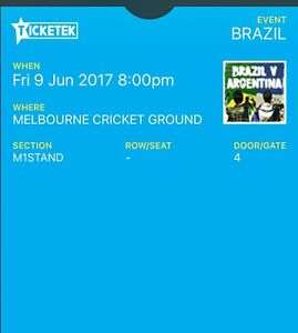Argentina vs Brazil at Melbourne 250$ for 2 Tickets Campsie Canterbury Area Preview