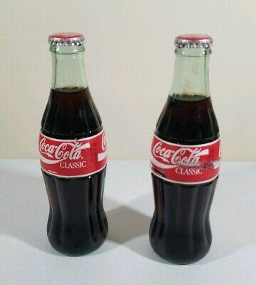 (2) Vintage 8 Fl Oz. Coca Cola 1986 Full Bottles