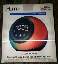 iHome iBT297 Bluetooth Alarm Clock Radio and Color Changing Wireless Speaker