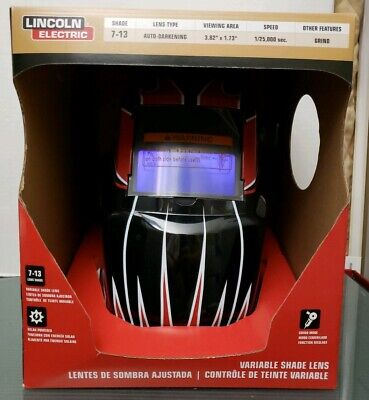 Migtig Lincoln Electric Hood Auto Dark Welding Helmet Lens Shade 7-13 New