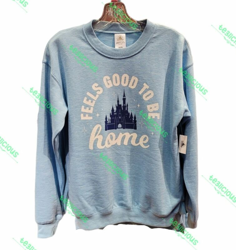 DISNEY PARKS FEELS GOOD TO BE HOME PULLOVER SWEATSHIRT *ALL SIZE