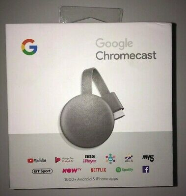 GOOGLE Chromecast - Third Generation - Charcoal - Media Streamer