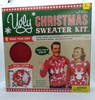 UGLY CHRISTMAS SWEATER KIT Mens Sz Large Unisex Now That's UGLY Special Edition - Ugly Christmas Sweater Kit