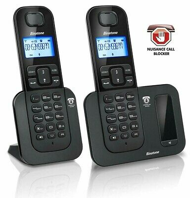 Binatone Shield 6015 Twin Cordless Phones Call Blocker & Answer Machine - New