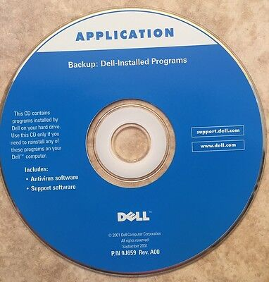 Dell Application Backup  Dell Installed Programs  2001  Antivirus And Support