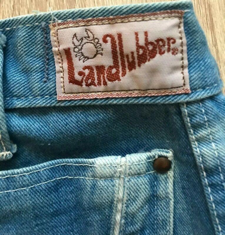 VTG 70's Landlubber Sanforized Bell Bottom Wide Leg Jeans 15