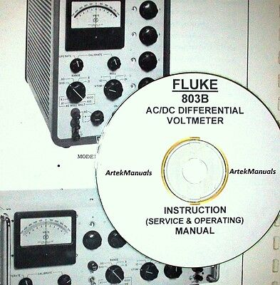 Fluke 803b Acdc Differential Voltmeter Operating Service Manualschematics