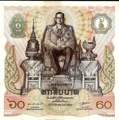 THAILAND 60 BAHT P93 1987 COMMEMORATIVE LARGE UNC KING BHUMIBOL MONEY BILL NOTE