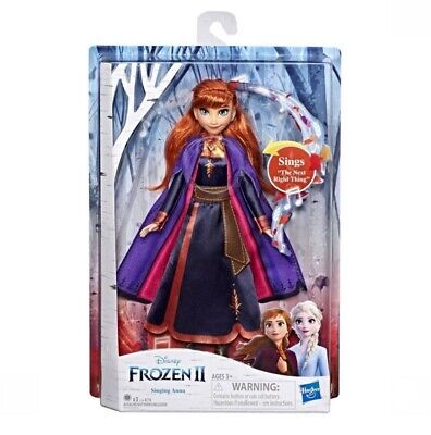 "Disney Anna Singing 11"" Doll Frozen 2 Singing The Next Right Thing NEW"