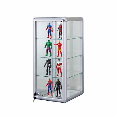 12 Aluminum Frame Counter Top Glass 3-shelf Showcase - F-1302