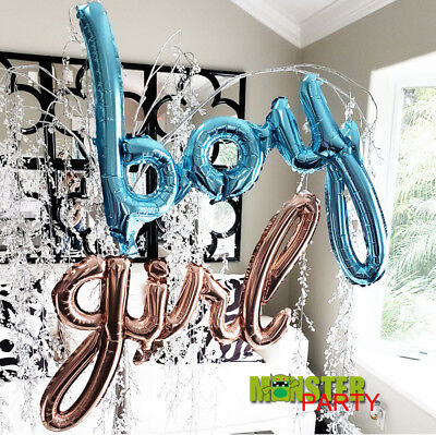 GIRL BABY BOY ONE Birthday Party BALLOON SHOWER NUMBER GENDER REVEAL BANNER (Number One Balloon)