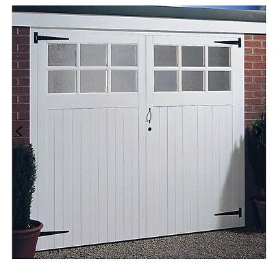 Wooden garage doors unglazed, any size made to measure, the yorkshire 7x6.6ft
