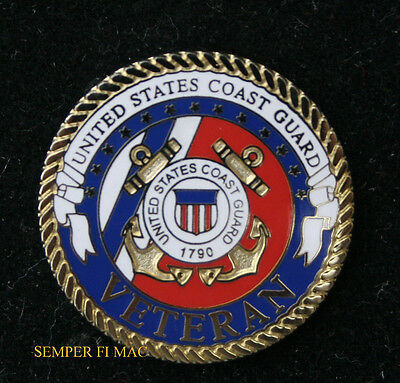 US COAST GUARD VETERAN USCG SAILOR VET LAPEL HAT PIN SEMPER PARATUS 1790 GIFT