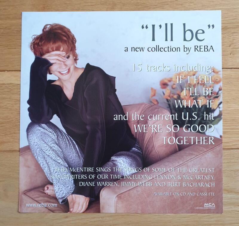 Reba I'll Be Promo Poster Ultra Rare Country