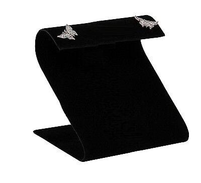 Wide Earring Display Stand Curved Top Earring Display Black Earring Metal Stand