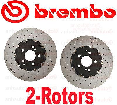 Set of 2  Brembo Front Brake Rotor Mercedes C63 CLK63 E63 SL55  AMG