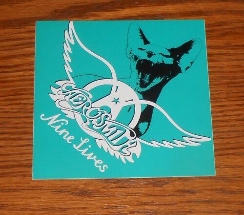 Aerosmith Nine Lives Sticker Square Promo 4x4 RARE