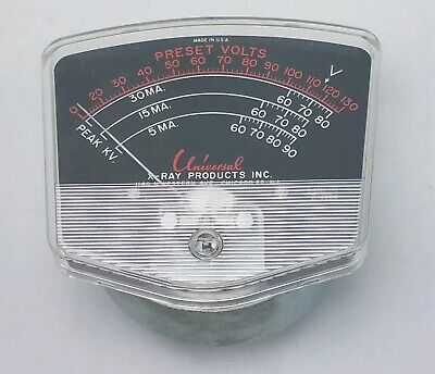 Vintage Steel Panel Preset Voltage Guage Meter Universal X-ray Products Chicago