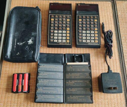 2x Texas Instrument TI 59 Calculator + Master Library + AC adapter