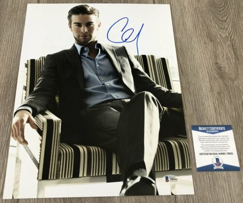 CHACE CRAWFORD SIGNED AUTOGRAPH GOSSIP GIRL 11x14 PHOTO w/PROOF BECKETT BAS COA