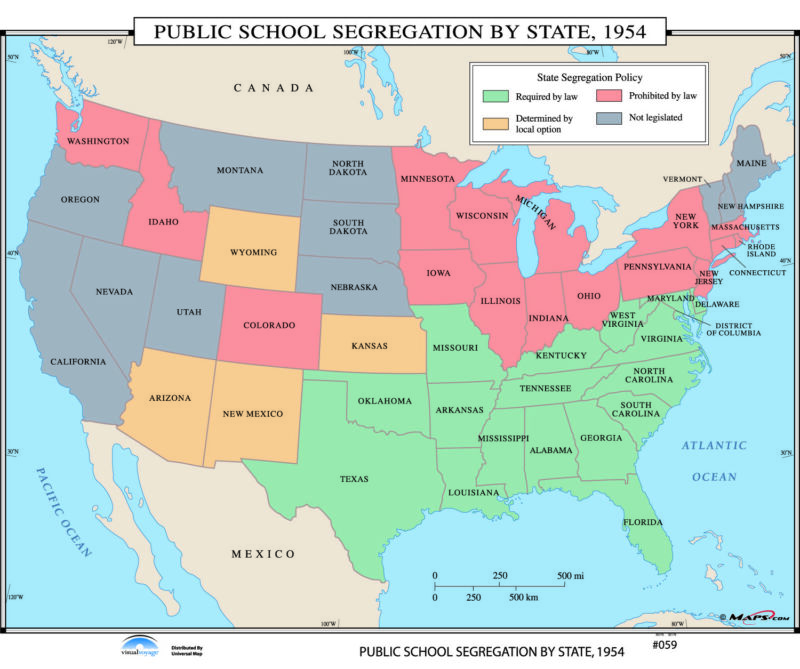 059 Public School Segregation by State, 1954