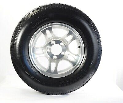 Trailer Tire and Rim ST205/75R15 LRD 5-4.5 Aluminum Split Silver Spoke Wheel