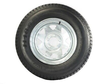Trailer Tire On Rim ST205/75D14 205/75 14 in. LRC 5 Bolt Galvanized Spoke Wheel