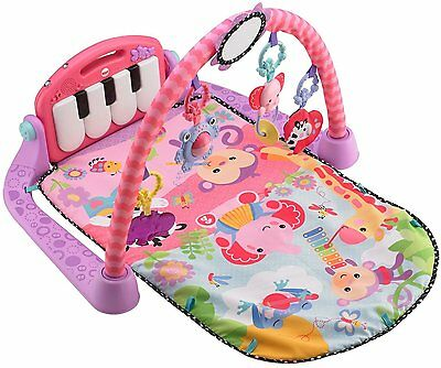 Fisher-Price Kick and Play Piano GYM, Female Baby Music PLAYMAT, BMH48, Pink