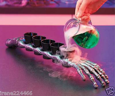 Skeleton ForeArm 5 Shot Glass Drinkware Party Décor Halloween 19x2.5x1.75 NIP](Halloween Party Drinkware)