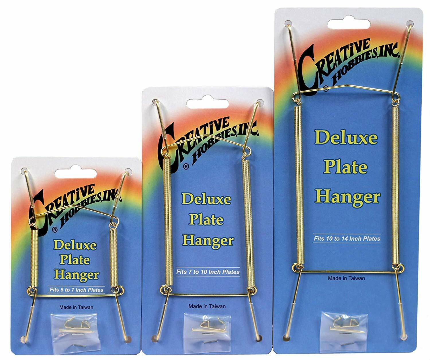 Gold Plate Display Hangers, Spring Type,Hold 5 to 14 Inch Plates -Pack of 6 Crafts
