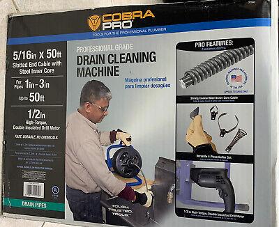 New Cobra Pro 50ft Professional Grade Drain Pipe Cleaning Machine Model Cp2040