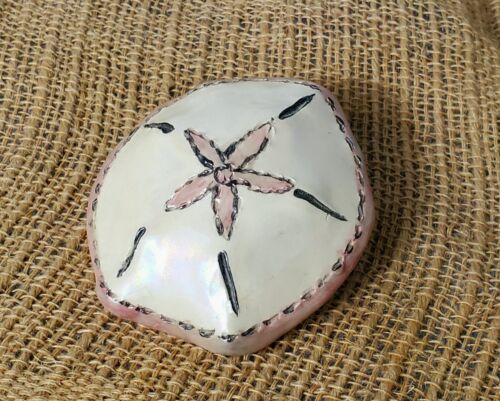 Blue Sky Clayworks Heather Goldminc Ceramic Sand Dollar 2000 Beach Collectible