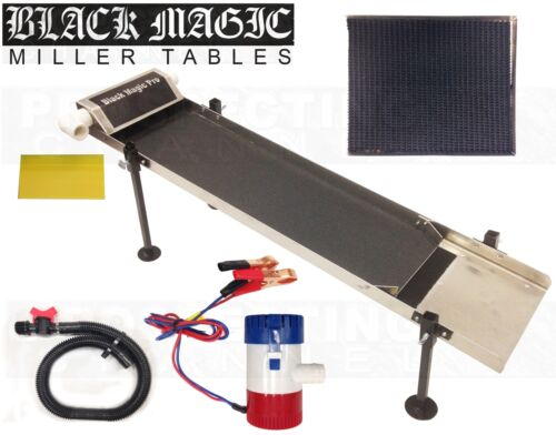 BLACK MAGIC PRO MILLER TABLE fine gold recovery W/ Vortex Matting Pull Out Tray