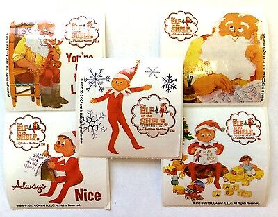 25 Elf On The  Shelf Christmas Holiday Stickers Party Favors Teacher Supply - Holiday Supplies