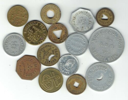15 Different Washington State Trade Tokens