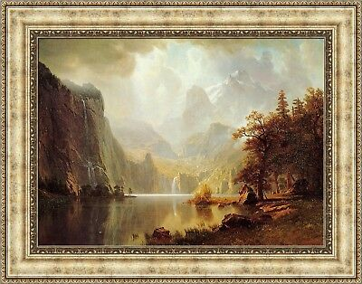 - Albert Bierstadt In the Mountains Framed Canvas Giclee Print 27