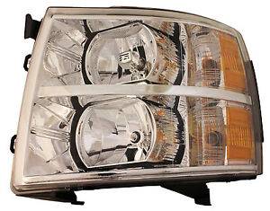 Chevy Silverado Truck 07-12 Left Headlight Headlamp 1500/2500 Lens & Housing