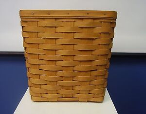 1995 longaberger classic wall magazine mail letter basket signed rs 1995 ebay. Black Bedroom Furniture Sets. Home Design Ideas