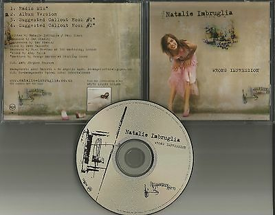 Natalie Imbruglia Wrong Impression Rare Radio Mix Promo Dj Cd Single 2001 Usa