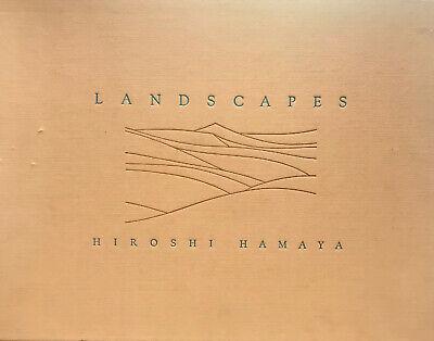 """HIROSHI HAMAYA """"LANDSCAPES"""" 1982 1ST ED SIGNED HC SLIPCASE VG+ AMAZING PHOTOS!"""