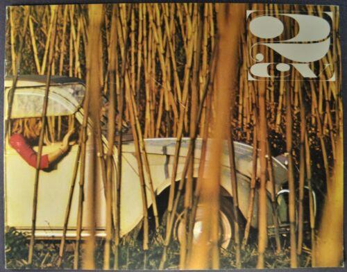 1965-1966 Citroen 2CV Sedan Catalog Sales Brochure Excellent Original