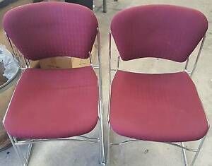 MAROON OFFICE CHAIRS - work office study reception conference Murarrie Brisbane South East Preview