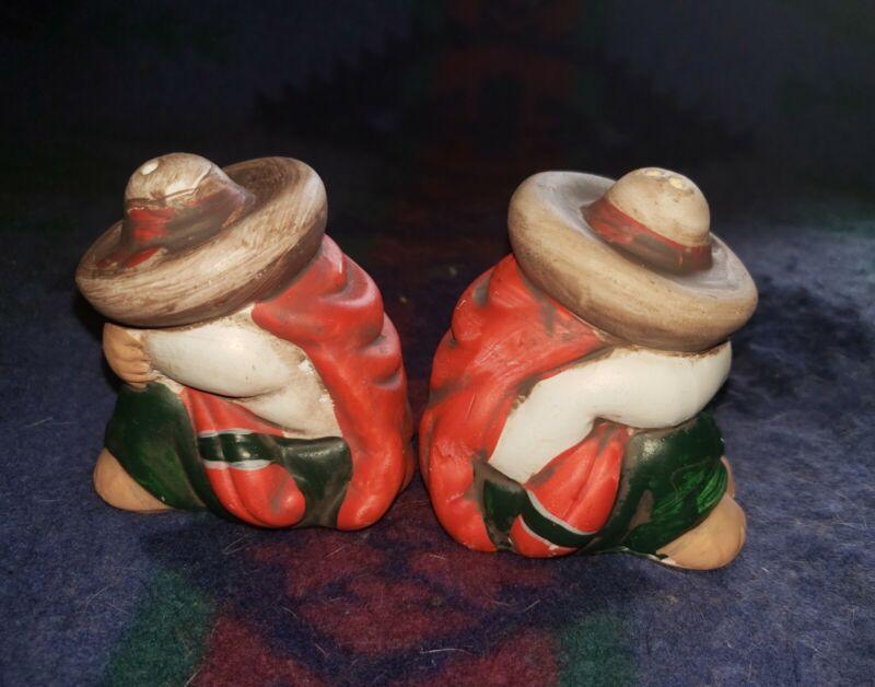 Vintage Ceramic Siesta Man Salt & Pepper Shakers