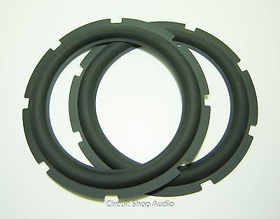 "Pair 8"" Rubber Surrounds for Speaker Repair -- #1"