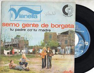 VIANELLA-WILMA-GOICH-EDOARDO-VIANELLO-disco-45-giri-ITALY-Semo-gente-de-borgata