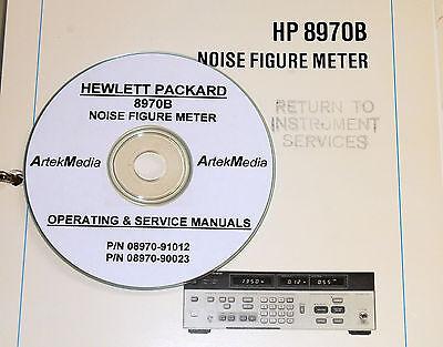 Hp 8970b Noise Figure Meter Ops-service Manuals 2 Vol