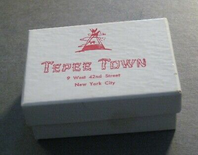 Vintage Tepee Town Gift Box - 9 West 42nd Street - New York City - NYC History*