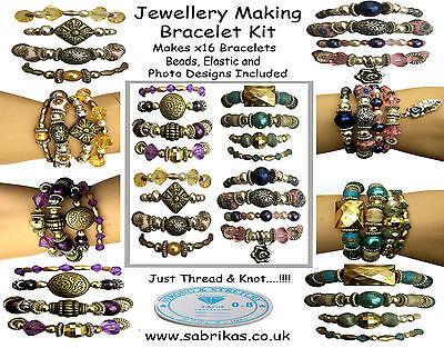 x16 Bracelet Making Jewellery Kit Girls Gift