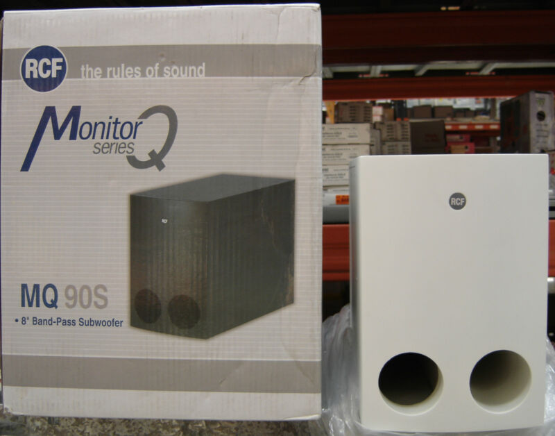 Rcf MQ90S-W Diffuseur Blanc Subwoofer Band Pass 60W RMS 16 Ω 130.00.098