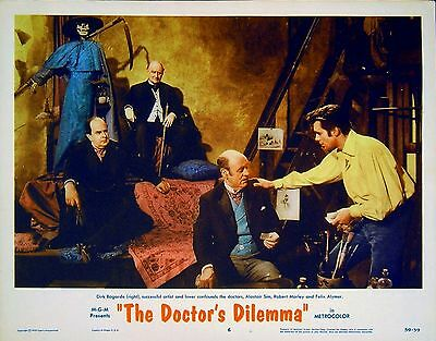 DOCTOR'S DILEMMA 1959 Dirk Bogarde, Alastair Sim, Robert Morley LOBBY CARD
